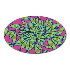 Big Growth Abstract Floral Texture Oval Magnet
