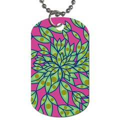 Big Growth Abstract Floral Texture Dog Tag (one Side)