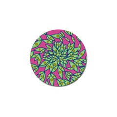 Big Growth Abstract Floral Texture Golf Ball Marker