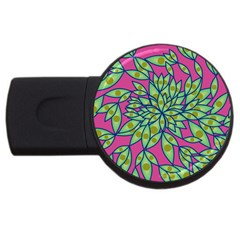 Big Growth Abstract Floral Texture USB Flash Drive Round (1 GB)