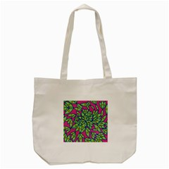 Big Growth Abstract Floral Texture Tote Bag (Cream)