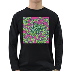 Big Growth Abstract Floral Texture Long Sleeve Dark T Shirts