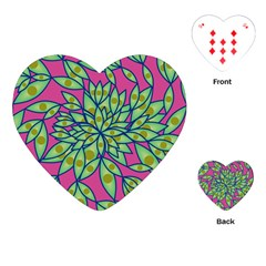 Big Growth Abstract Floral Texture Playing Cards (heart)