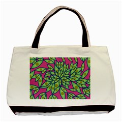 Big Growth Abstract Floral Texture Basic Tote Bag