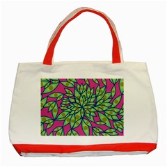 Big Growth Abstract Floral Texture Classic Tote Bag (Red)