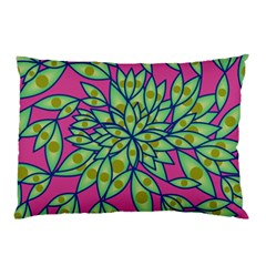 Big Growth Abstract Floral Texture Pillow Case
