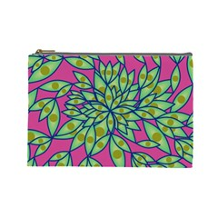 Big Growth Abstract Floral Texture Cosmetic Bag (large)