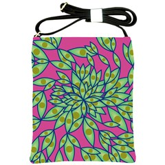 Big Growth Abstract Floral Texture Shoulder Sling Bags