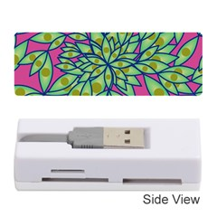 Big Growth Abstract Floral Texture Memory Card Reader (stick)