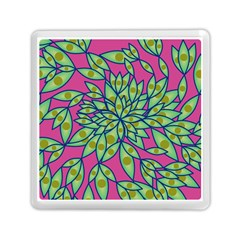 Big Growth Abstract Floral Texture Memory Card Reader (square)