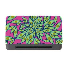 Big Growth Abstract Floral Texture Memory Card Reader With Cf