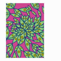 Big Growth Abstract Floral Texture Small Garden Flag (two Sides)