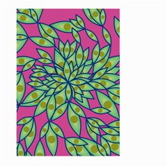 Big Growth Abstract Floral Texture Large Garden Flag (two Sides)