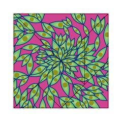 Big Growth Abstract Floral Texture Acrylic Tangram Puzzle (6  x 6 )