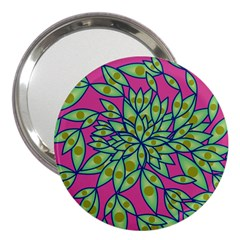 Big Growth Abstract Floral Texture 3  Handbag Mirrors