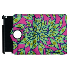 Big Growth Abstract Floral Texture Apple Ipad 2 Flip 360 Case