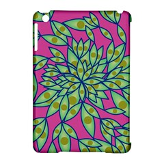 Big Growth Abstract Floral Texture Apple iPad Mini Hardshell Case (Compatible with Smart Cover)