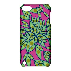 Big Growth Abstract Floral Texture Apple iPod Touch 5 Hardshell Case with Stand