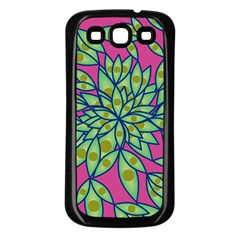 Big Growth Abstract Floral Texture Samsung Galaxy S3 Back Case (Black)
