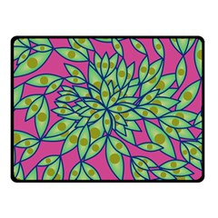 Big Growth Abstract Floral Texture Double Sided Fleece Blanket (Small)