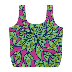 Big Growth Abstract Floral Texture Full Print Recycle Bags (L)