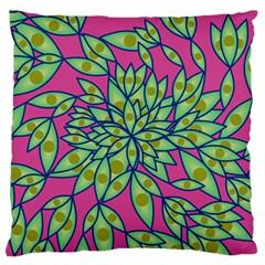 Big Growth Abstract Floral Texture Large Flano Cushion Case (Two Sides)