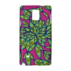 Big Growth Abstract Floral Texture Samsung Galaxy Note 4 Hardshell Case