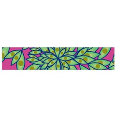 Big Growth Abstract Floral Texture Flano Scarf (Small)
