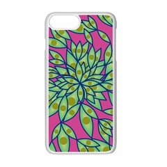 Big Growth Abstract Floral Texture Apple Iphone 7 Plus White Seamless Case