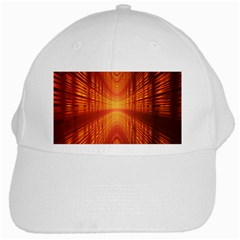 Abstract Wallpaper With Glowing Light White Cap