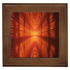Abstract Wallpaper With Glowing Light Framed Tiles