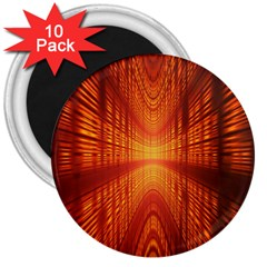 Abstract Wallpaper With Glowing Light 3  Magnets (10 pack)