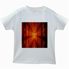 Abstract Wallpaper With Glowing Light Kids White T Shirts