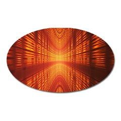 Abstract Wallpaper With Glowing Light Oval Magnet