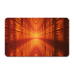 Abstract Wallpaper With Glowing Light Magnet (Rectangular)