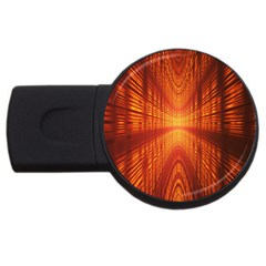 Abstract Wallpaper With Glowing Light Usb Flash Drive Round (2 Gb)