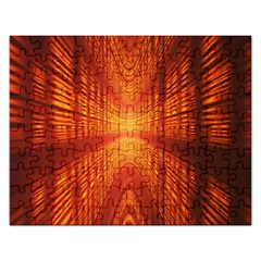 Abstract Wallpaper With Glowing Light Rectangular Jigsaw Puzzl
