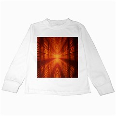 Abstract Wallpaper With Glowing Light Kids Long Sleeve T Shirts