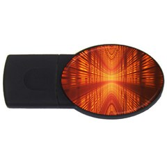 Abstract Wallpaper With Glowing Light Usb Flash Drive Oval (4 Gb)