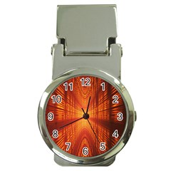 Abstract Wallpaper With Glowing Light Money Clip Watches