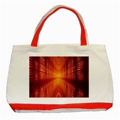 Abstract Wallpaper With Glowing Light Classic Tote Bag (Red)