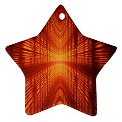 Abstract Wallpaper With Glowing Light Star Ornament (Two Sides)