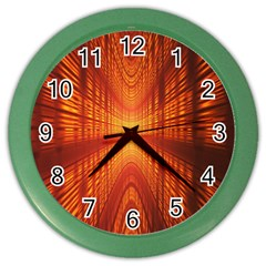 Abstract Wallpaper With Glowing Light Color Wall Clocks