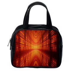 Abstract Wallpaper With Glowing Light Classic Handbags (one Side)