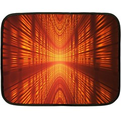 Abstract Wallpaper With Glowing Light Double Sided Fleece Blanket (mini)