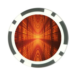 Abstract Wallpaper With Glowing Light Poker Chip Card Guard (10 Pack)