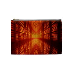 Abstract Wallpaper With Glowing Light Cosmetic Bag (medium)