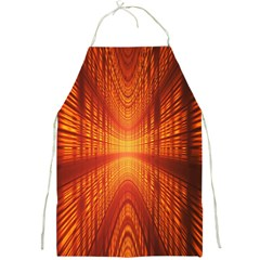 Abstract Wallpaper With Glowing Light Full Print Aprons