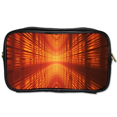 Abstract Wallpaper With Glowing Light Toiletries Bags