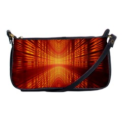 Abstract Wallpaper With Glowing Light Shoulder Clutch Bags